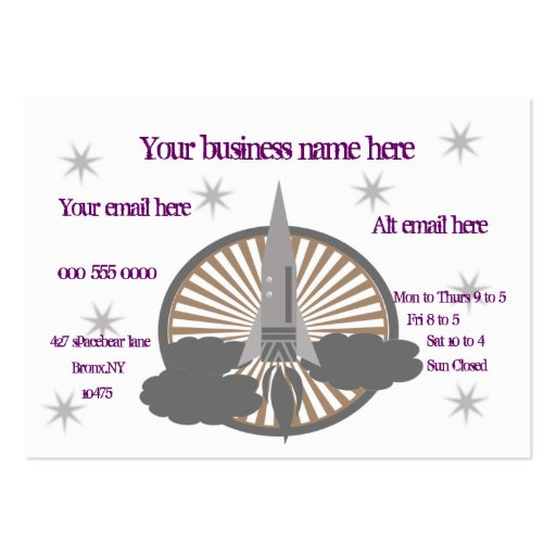 rocket large business cards (Pack of 100)