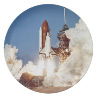 Rocket Launch 2 Melamine Plate