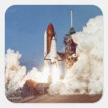 Rocket Launch 2 Square Sticker