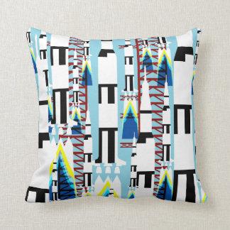 Rocket launch cushion throw pillow