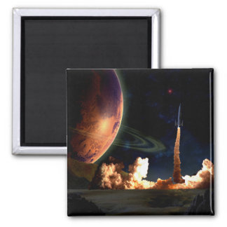 Rocket Launch Fridge Magnets