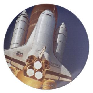 Rocket Launch Melamine Plate