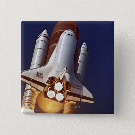 Rocket Launch Pinback Button