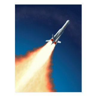Rocket Launch Postcard