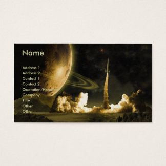 Rocket Launch Regular Business Card Template