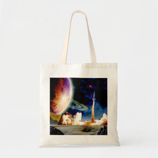 Rocket Launch Tote Bag