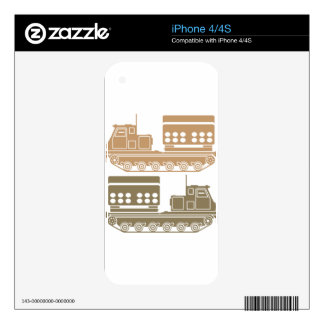Rocket launcher military decals for iPhone 4