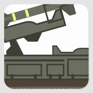 Rocket launcher square sticker