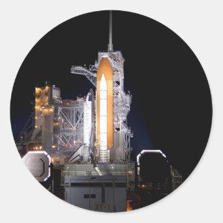 rocket liftoff astronautics nasa classic round sticker