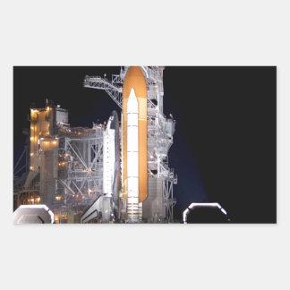 rocket liftoff astronautics nasa rectangular sticker