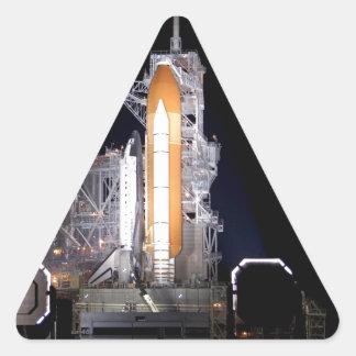 rocket liftoff astronautics nasa triangle sticker
