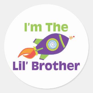 Rocket Lil Bro Classic Round Sticker