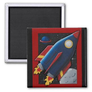 Rocket Fridge Magnet