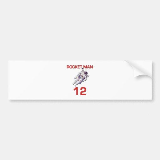 Rocket Man 12 Basketball Astronaut Bumper Stickers