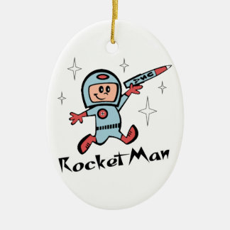 Rocket Man Ceramic Ornament