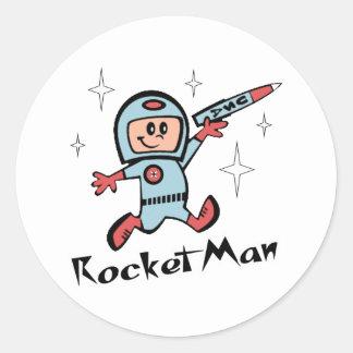 Rocket Man Classic Round Sticker