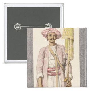 Rocket Man of Tipoo Sultan (1750-99), c.1793-4 (w/ Pinback Button