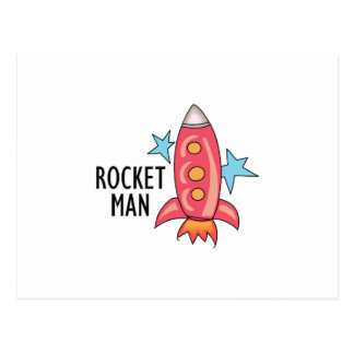 Rocket Man Postcard