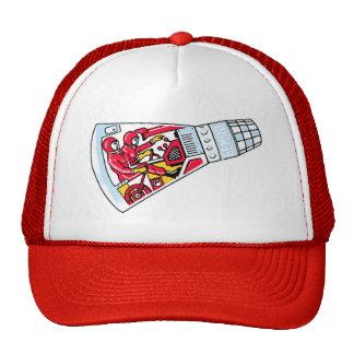 Rocket Man Retro Gemini Rockets in Space Mesh Hats