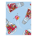 Rocket Man Retro Gemini Rockets in Space Post Card