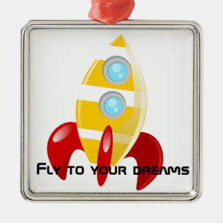 Rocket Metal Ornament