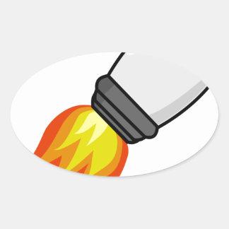 Rocket Missile Oval Sticker