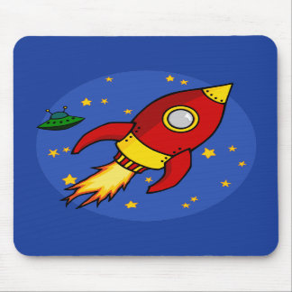 Rocket Mousepad amarillo rojo Tapetes De Ratones