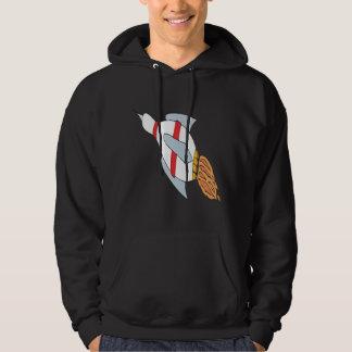 Rocket Pin Hooded Pullover
