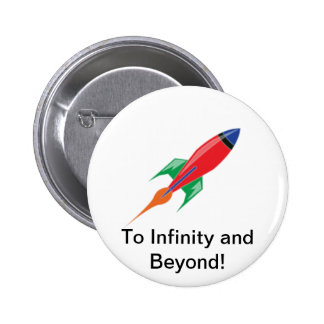 Rocket Pinback Button