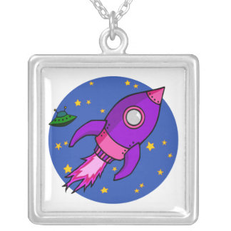 Rocket pink purple Necklace