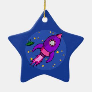 Rocket pink purple Ornament