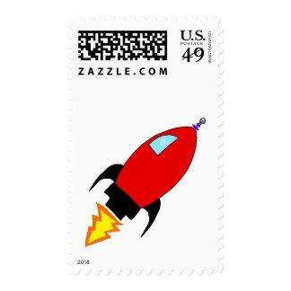 Rocket Postage Stamps