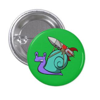 Rocket Powered Snail Pinback Button