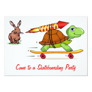 Rocket Propelled Tortoise and Hare Card