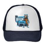 Rocket Raccoon Badge Mesh Hat