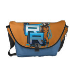 Rocket Raccoon Badge Messenger Bags