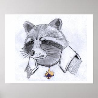 Rocket Raccoon Print