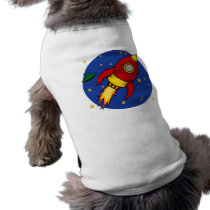 Rocket red Doggie Ribbed Tank Top