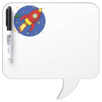 Rocket red Dry Erase Board