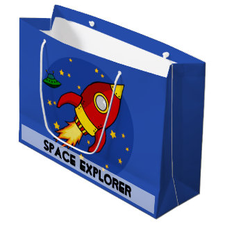Rocket red Large Glossy Gift Bag