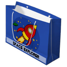 Rocket red Large Glossy Gift Bag Large Gift Bag