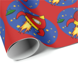 """Rocket red Matte Wrapping Paper 30""""x6'"""