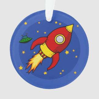 Rocket red ornament
