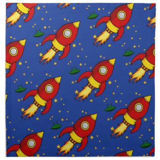 Rocket red Pattern Cloth Dinner Napkins 20x20