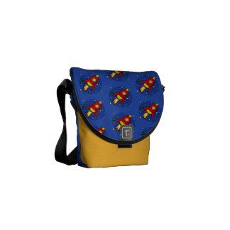 Rocket red pattern Messenger Bag