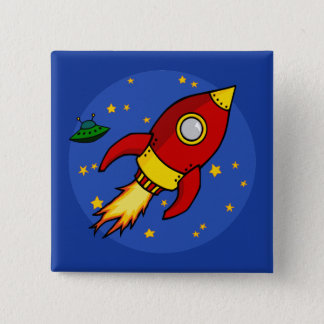Rocket red yellow Button