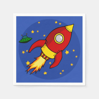 Rocket red yellow Cocktail Paper Napkin