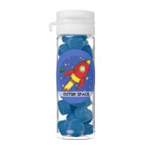 Rocket red yellow Favor Flip Top Tubes Chewing Gum Favors