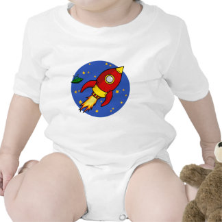 Rocket red yellow Infant Tee Shirts