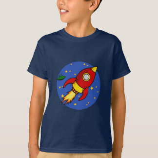 Rocket red yellow Kids T-Shirt